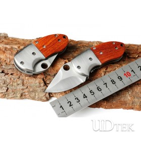 No logo Small armor knife with wood handle UD405152