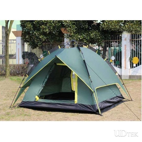 Canopy dual-use Caulking rain-proof of the automatically tent outdoor supplies 3 people UDTEK01549
