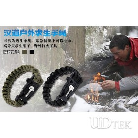 Handao outdoor survival rope bracelet gear with fire starter UD06014