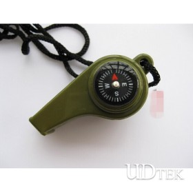 3 in 1 high DB survival whistle with thermometer and compass UD06031
