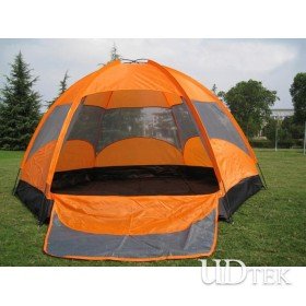 Outdoor waterproof Camping Tent Capacity for 8 Persons Super Large Double Layer Adhesive Tent UD16036