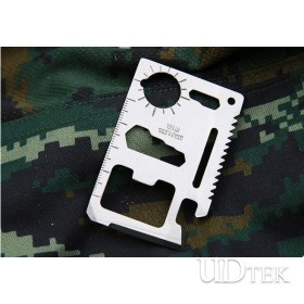 Multifunctional stainless steel army credit card wallet knife with bottle opener UDTEK2001
