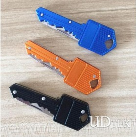 High quality simple key shape outdoor camping knife portable gift knife promotion small folding knife UD07011