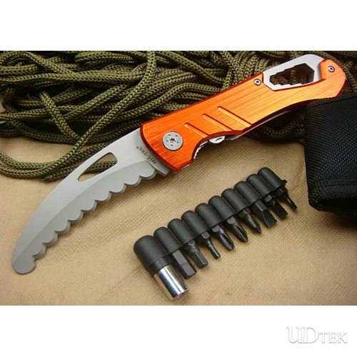 56HRC Steel + Aluminum Handle High Quality TCE Multifunction Tool Multi-purpose Knife UDTEK00486