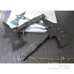 440 Stainless Steel America Combat Axes Outdoor Tools with Micarta Handle UDTEK01351