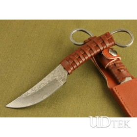 High Quality Leather + Ripe Handle Machete Knife Curved Knife UDTEK01355