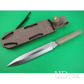 Hot Selling Double Blade Combat Knife Fighting Knife Defence Tools with G10 Handle UDTEK01414
