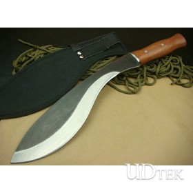 Manual Made OEM Cold Steel Dog Leg Machete Knife Survival Knife with Wood Handle UDTEK01236