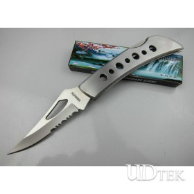 420 Stainless Steel Folding Rescue back lock knife Tools with All Steel Handle UDTEK01257