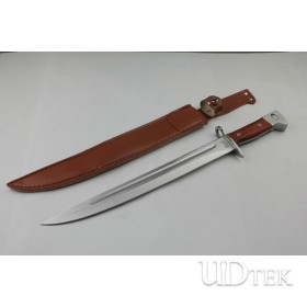 HIGH QUALITY OEM AK-47 FIXED BLADE KNIFE WITH GENUINE LEATHER SCABBARD UD48702