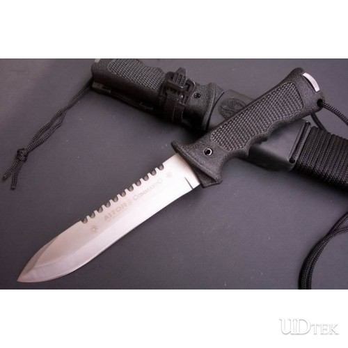 440STAINLESS STEEL OEM AITOR JUNGLE KING COMMANDER FIXED BLADE KNIFE UDTEK00589