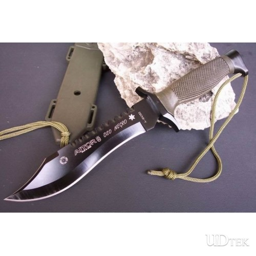 440 STAINLESS STEEL 58HRC OEM AITOR FOREST WOLF FIXED BLADE RESCUE KNIFE UDTEK00591