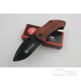 BOKER DA33 Mini Small Folding Knife 440C Blade Wood Handle Camping Pocket Knife UD401112