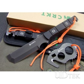 AUS-8A 59HRC COLUMBIA RIVER TACTICAL SUVIVAL KNIFE &  COMBINATON TOOL UDTEK00221