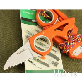 ORANGE VERSION OEM COLOMBIA MUNIAS FIXED BLADE KNIFE RESCUE KNIFE CAMPING KNIFE UDTEK00229