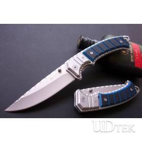BLUE OEM COLOMBIA CRKT CARVING FLOWER FOLDING KNIFE UDTEK00234