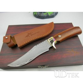 High Quality OEM Mantis M2 Collection Knife Damascus Steel Knife UDTEK01208