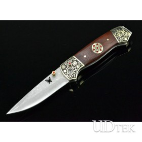 Acid branch version OEM Damascus Steel Folding Knives Collection Knife UDTEK01303