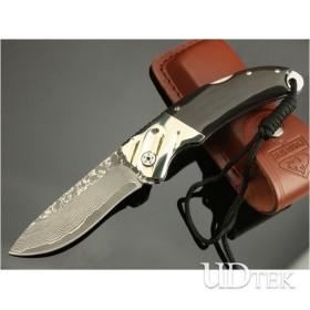OEM DAMASCUS STEEL IMMINENT FOLDING KNIFE UDTEK00536