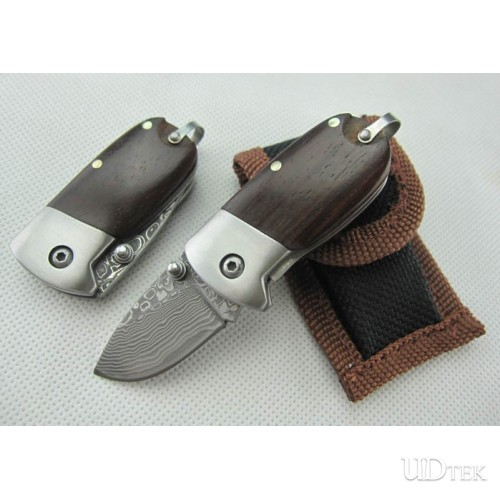 ACID BRANCH VERSION OEM DAMASCUS STEEL MINI QQFOLDING KNIFE UDTEK00544