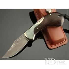 OEM DAMASCUS STEEL SNAIL FOLDING KNIFE COLLECTION KNIFE UDTEK00546