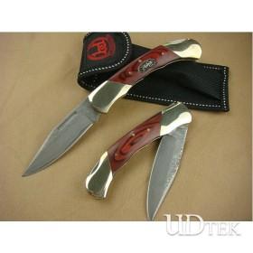 OEM DAMASCUS STEEL FOLDING KNIFE UDTEK00552