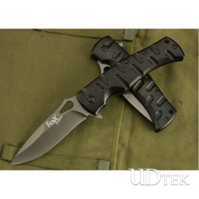 BLACK VERSION OEM Fox DA12 FOLDING RESCUE KNIFE UDTEK00422
