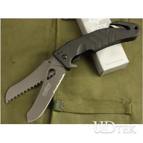 OEM Fox multifunctional half serrated blade rescue knife UDTEK00436
