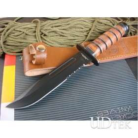 OEM KABAR 1217 HUNTING KNIFE WITH LEATHER HANDLE UDTEK00365