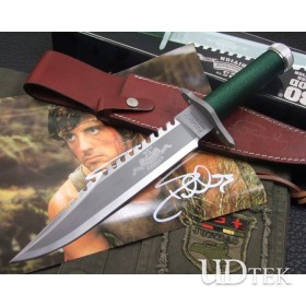 OEM RAMBO II RESCUE KNIFE HAND-SIGNED MEMORIAL VERSION UD40447