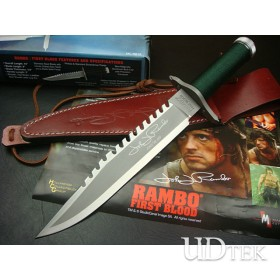 OEM RAMBO STALLONE HAND-SIGNED MEMORIAL VERSION FIXED BLADE KNIFE UD40466