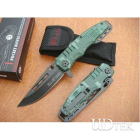 OEM SR-B428 CAMOUFLAGE FOLDING RESCUE KNIFE UDTEK00512