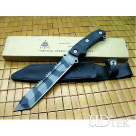 OEM TOPS STEEL EAGLE ALL BLADE TIGER TATOO FIXED BLADE KNIFE UDTEK00627