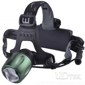 Green cree T6 strong Power headlamp for hunting camping UD09007