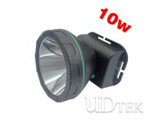 10W plastic chargerable headlamp LED waterproof  Lithium battery miner's lamp UD09010