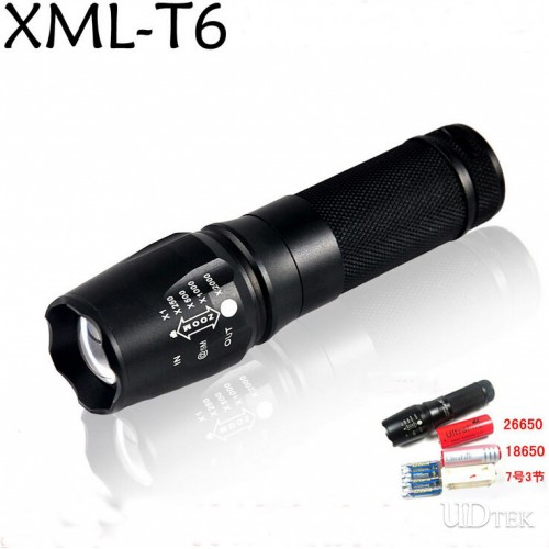 26650 rechargeable flashlight T6 light UD09034