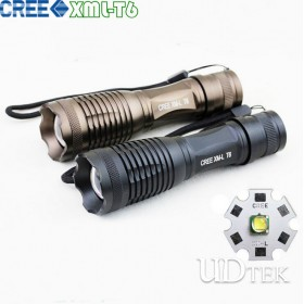 Cree T6 LY-E6 Focusing light led search flashlight UD09052