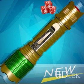 F026 golden and green fashion flashlight UD09070