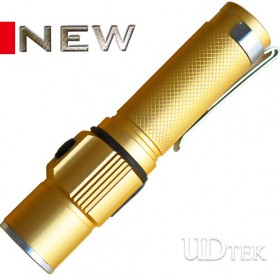 New golden color mini flashlight Lithium battery flashlight  UD09072