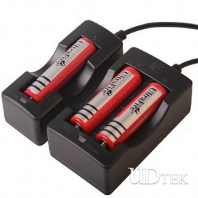 18650 double groove smart Lithium battery charger with cable UD09088
