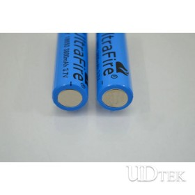 3.7v 3800mah 18650 blue battery sharp head Rechargeable lithium battery UD09101