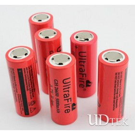 3.7v 5000mAh T6 flashlight battery 26650 battery crop  Rechargeable Lithium battery UD09109