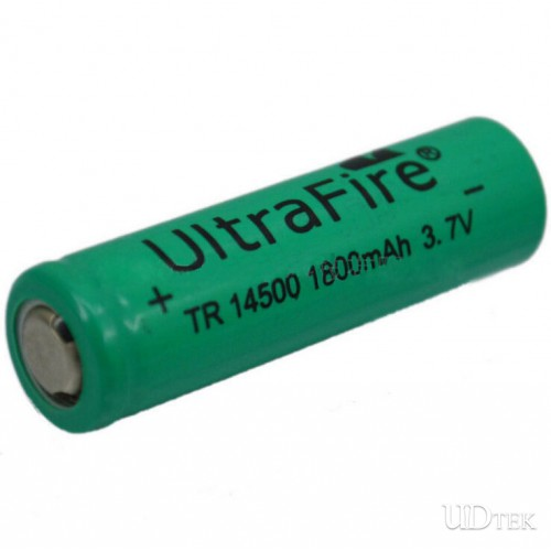 14500 battery sharp head green color Rechargeable  Lithium  battery UD09112