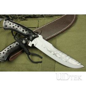 3Cr13 STAINLESS STEEL KNIGHT TEMPLAR STRAIGHT KNIFE WITH LEATHER SHEATH UDTEK00390