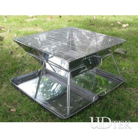 Foldable large size Stainless steel barbecue stove UD16088