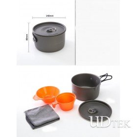 Alcos outdoor camping 1-2 people 5PCS camping pot UD16104