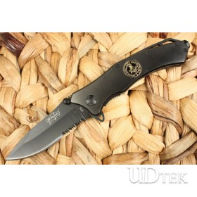 Elf Monkey-076 half serrated blade folding knife UD40173