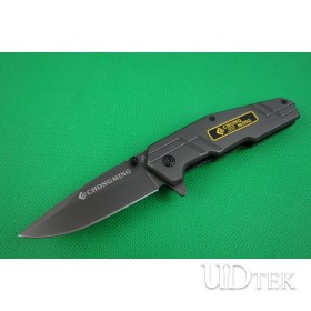 ChuangMing 348 quick open folding knife (grey Titanium) UD401848
