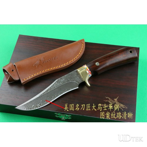 ABS Damascus M2 collection knife UD402075
