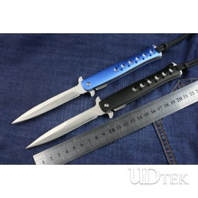 Blue and black Small Fish steel folding knife (small size) UD402222